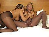 Seksowne lesbijki w rajstopach