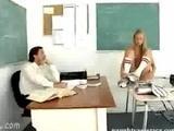 Rozebrana uczennica z nauczycielem
