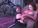 Mocne zabawy rudej fetyszki