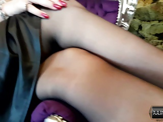 PantyHose Nylon High Heels Chastity Leather Fetish
