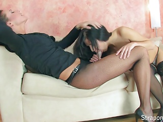 Fishnet Fun! Part 1 of 4. Two Hot lesbian Get Ready To Play