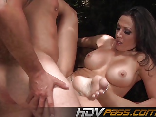 Brunette Babe Amy Fisher Fuck Outside