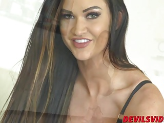 Awesome babe Kendall Karson getting her wet pussy pleasured