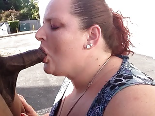 Betty bop sucking dick in the school parking lot