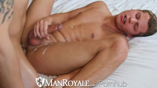 HD - ManRoyale Dick sucking and ass fucking for breakfast