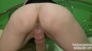 POV TAKE A RIDE! WIFEY COWGIRL COCK RIDE & REAL ORGASM-SYLVIA CHRYSTALL HD.