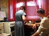 Ostry sex z matka w kuchni