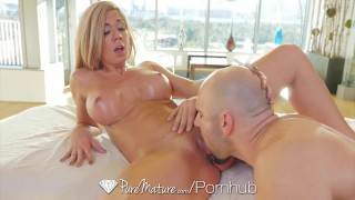 PureMature - Hot milf Parker Swayze gets sensual massage