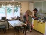 Sex z babcia w kuchni