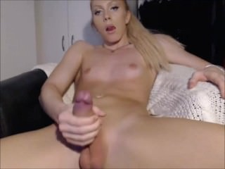 Blonde Beautiful Shemale With a Big Hard Cock.mp4