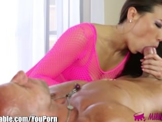 MilkingTable Asian Cock Throating Treatment