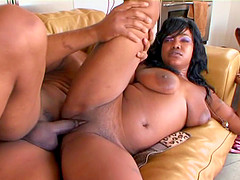 Big black ass and titties on a dirty girl getting butt fucked