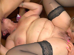 Horny lesbian grannies always like to have fun with the college babes