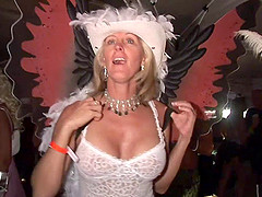 crazy milfs have fun and merry in the outdoor party