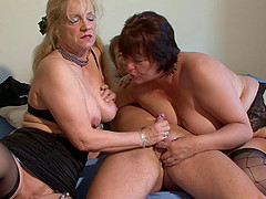 Dirty mature ladies fucked in a threesome compilation