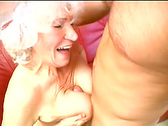 Erotic blonde gives her hubby a steamy blowjob before getting wrecked doggystyle