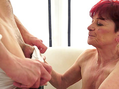 Kinky granny cannot resist the feel of a stiff cock inside her