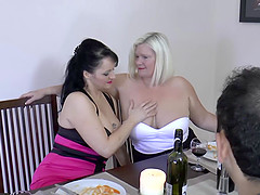 Older mature grannies with big curvy tits fucked both holes hardcore
