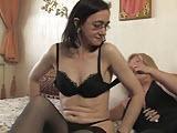 Dojrzale lesbijki w sypialni