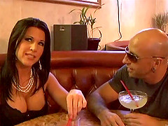 Drinking cocktails leads to steamy fucking with stylish Milf
