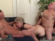 Hot threesome after pussy masturbating