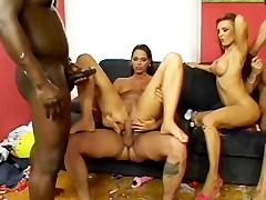 Bonny Bon, Britney, Janis King, Simony Diamond; Ass Academy 02 - Scene 2 -