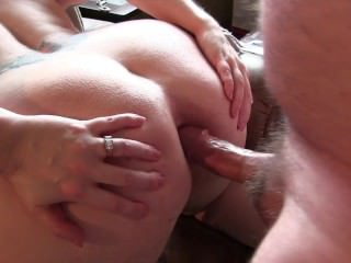 Fucking my wife in her wide open asshole