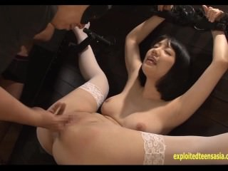 Koharu Suzuki Strapped To The Wall Fingered Then Fucked By 10 Guys Jizz In