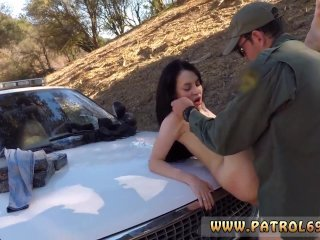 Sexy big tit cop Russian Amateur Takes it