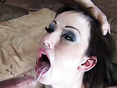 Petite raven haired bitch Jennifer White had nice interracial 3 some