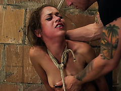 These whores love rope bondage and they love the harsh treatment