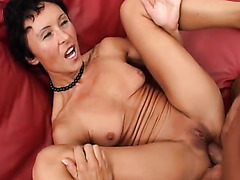 Insatiable MILF is double penetrated in hardcore threesome video