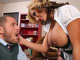 Sex nauczycielka z wielkimi cyckami