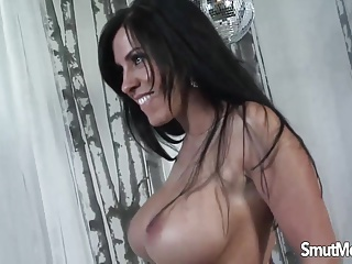 Brunette MILF fucked and facial