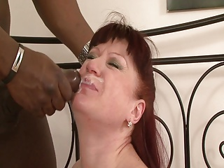 Redhead Mature Esmerelda Stuffed And Facialed