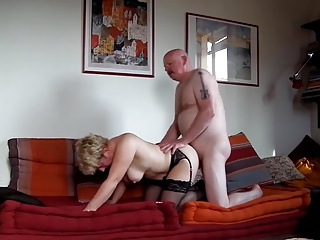 mom sit on his stiff boner and go up and down