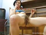Kristy gets horny while cleaning