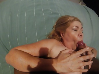 Busty latina Milf blowjob Finishes With Swallow