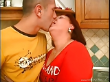 Hot hairy mature fucked and squirts
