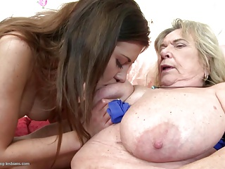 grannies;granny and moms fuck young lesbian meat