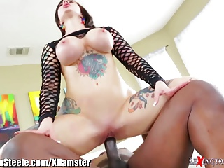 Lexington Steele Finds Tattooed MILF Masturbating