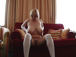 sophie in stockings and gloves