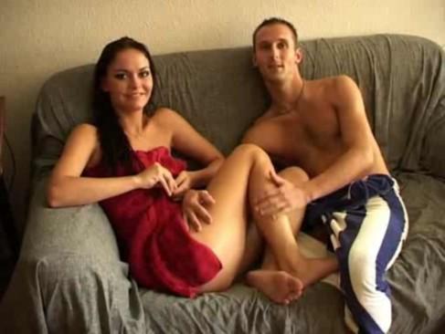 Sexy amateur euro brunette