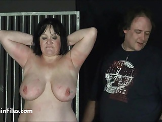BBW amateur slave Chinas extreme needle bdsm and caged