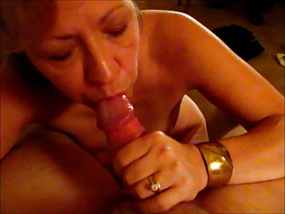 Mature Wife Blows Me Sucking, Moaning, Begging for Cum