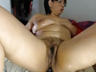 Hot 52 year old latina milf rides your dick on POV webcam