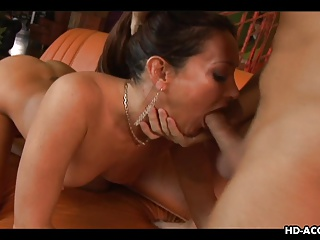Gorgeous MILF slut enjoying some hot sex with a young guy
