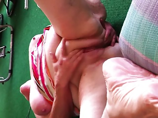 Wife getting off!