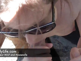 blowjob for a granddad voyeur