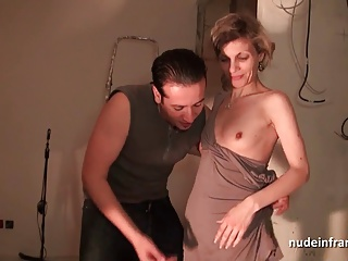 French mom hard anal fucked and facialized in 3way